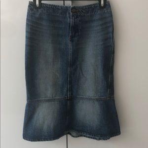Just cavalli denim fishtail skirt